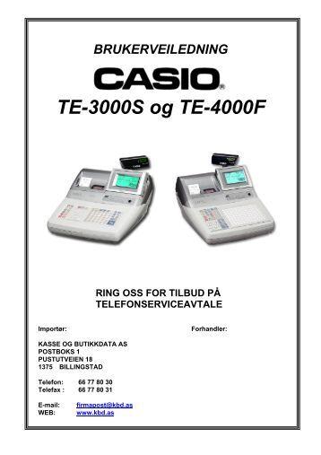 casio te-3000s / te-4000f - Kasse og Butikkdata AS