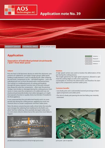 Application note No. 39 - AOS Technologies AG