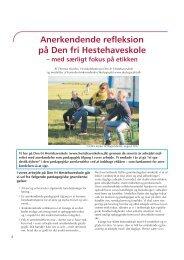 Anerkendende refleksion på Den Frie Hestehaveskole - Friskolebladet
