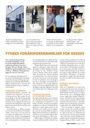 FYnSKe FOrÅrSFOrnemmeLSer FOr deSIGn - Danish Furniture On ...