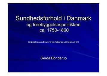 Sundhedsforhold - Slægtshistorisk Forening For Aalborgegnen