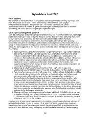 Nyhedsbrev, juni 2007 (PDF, 51kB)