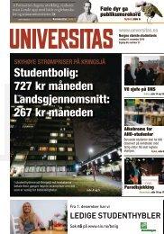 Studentbolig: 727 kr måneden Landsgjennomsnitt: 267 ... - Universitas