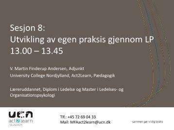 Sesjon 8: Utvikling av egen praksis gjennom LP