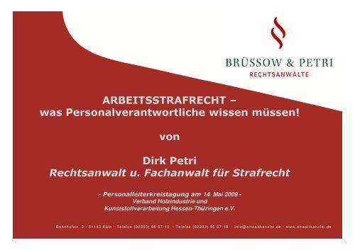 Rechtsanwalt u. Fachanwalt für Strafrecht - Strafverteidiger Rainer ...