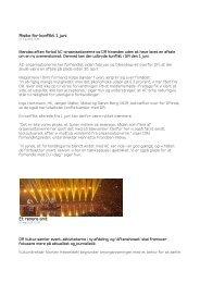 Risiko for konflikt 1. juni Et renere snit - Seniorklubben for ...