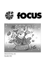 FOCUS PÅ NO nr. 134 December 2012 - No Sogneforening