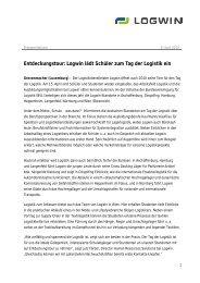 Entdeckungstour: Logwin lädt Schüler zum Tag der Logistik ein