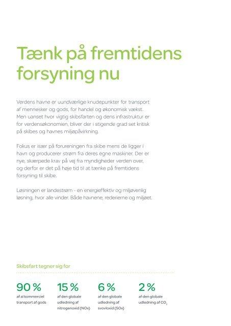 Brochure: Grøn strøm fra havn til skib - Schneider Electric