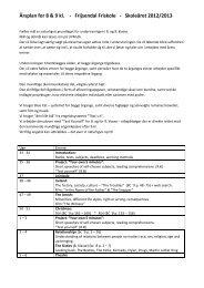 Årsplan engelsk 89 klasse 2012 2013 - Frijsendal Friskole