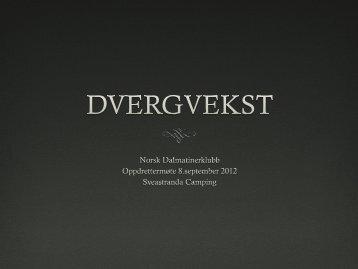 Dokumenter fra Oppdrettermøtet 2012 - Norsk Dalmatiner klubb