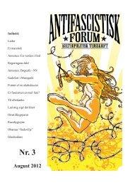 August 2012 - Foreningen Antifascistisk Forum
