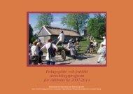 Pedagogiskt- och publikt utvecklingsprogram för ... - Länsstyrelserna