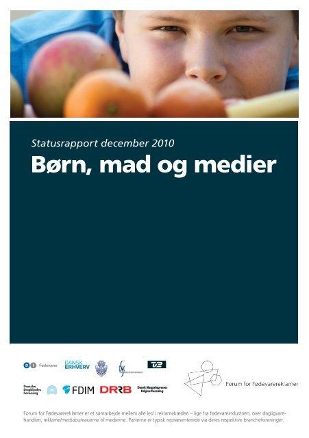 Børn, mad og medier. Statusrapport december 2010 - Kulturstyrelsen