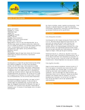 Guide til Cala Mesquida Guide til Cala Mesquida 1 (12) - Spies