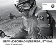 Prisliste Køreudrustning 2012 (PDF 6,0 MB) - BMW MC Klub Danmark