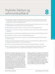 Kapitel 8. Psykiske lidelser og selvmordsadfærd - Statens Institut for ...