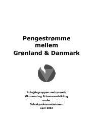 Pengestrømme mellem Grønland & Danmark
