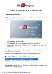 HJÆLP TIL IGANGSÆTNING AF WINKOMPAS 3 - Computer Shoppen