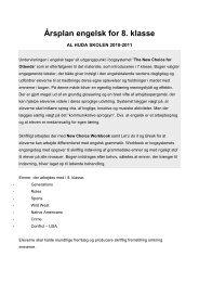 Undervisningsplan for ottende klasse i engelsk - Al-Huda skolen