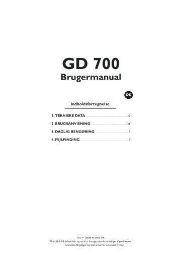 GD 700 - GRANULDISK