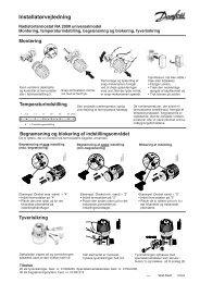 Installatørvejledning - Danfoss Varme