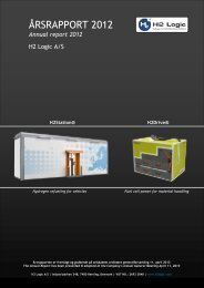 Årsregnskab 2012 - H2 Logic