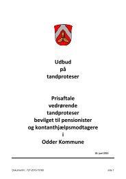 Udbud på tandproteser Prisaftale vedrørende ... - Odder kommune