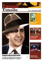 Tango Tidende - Tangoforeningen