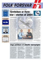 Folk og Forsvar, 2003, nr. 4 - Nutidigt dansk artilleri
