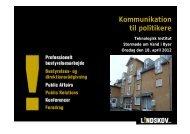 Kommunikation til politikere - Vand i Byer
