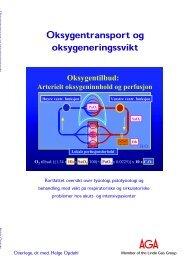 Oksygentransport og oksygeneringssvikt (PDF ... - Linde Healthcare