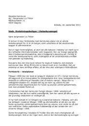 Bilag nr. 6 - Brev af 18. september 2011 til Slagelses borgmester Lis ...