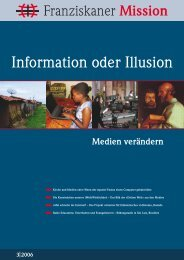 Franziskaner Mission 03/06 - Neue Provinzleitung der Deutschen ...