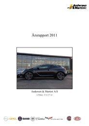 Årsrapport 2011 - Andersen & Martini A/S