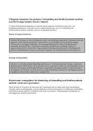 Utilsigtede hændelser hos patienter i antitrombotisk ... - DPSD