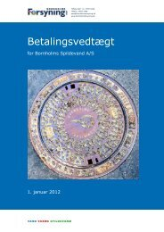 Betalingsvedtægt - Bornholms forsyning