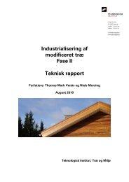 Industrialisering af modificeret træ Fase II Teknisk ... - Naturstyrelsen