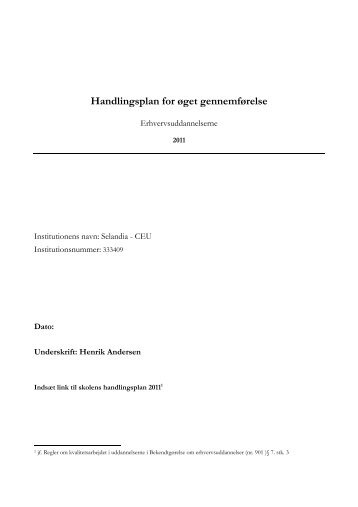 Handlingsplan 2011 - Selandia CEU