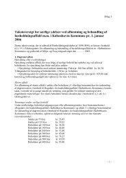 bilag 3, Takstoversigt, særlige ydelser - Københavns Kommune