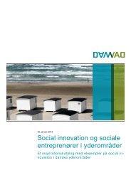 Social innovation og sociale entreprenører i yderområder - Damvad