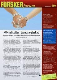 KU-institutter i tvangsægteskab - FORSKERforum