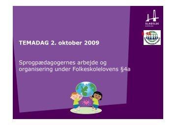 TEMADAG 021009 §4a - Slagelse Kommune