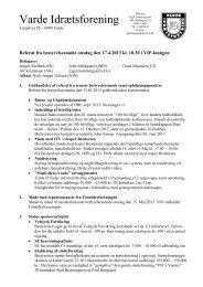 indkaldelse/referat bestyrelsesmødere - Varde IF
