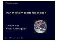 Gunnar Breiviks foredrag på OOFs årsmøte