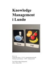 Knowledge Management i Lundø. Miniprojekt. IT ... - HMI Know-How