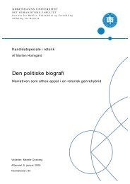 Den politiske biografi - Kommunikationsforum