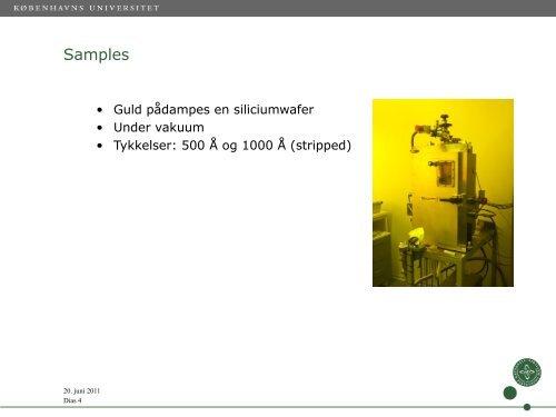 Slides fra foredrag om forsøg - alfin.dk