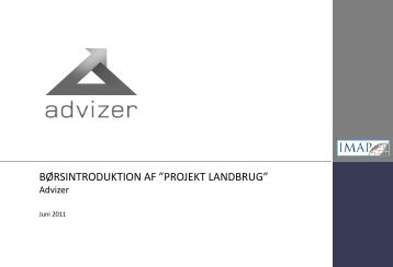 """børsintroduktion af """"projekt landbrug"""" - Danish Farmers Abroad"""