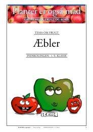 Indskolingen: Frugt/ÆBLER (opgaver) - Planter er også mad